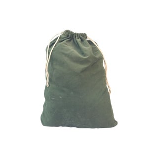 Vintage Dark Green Army Bag