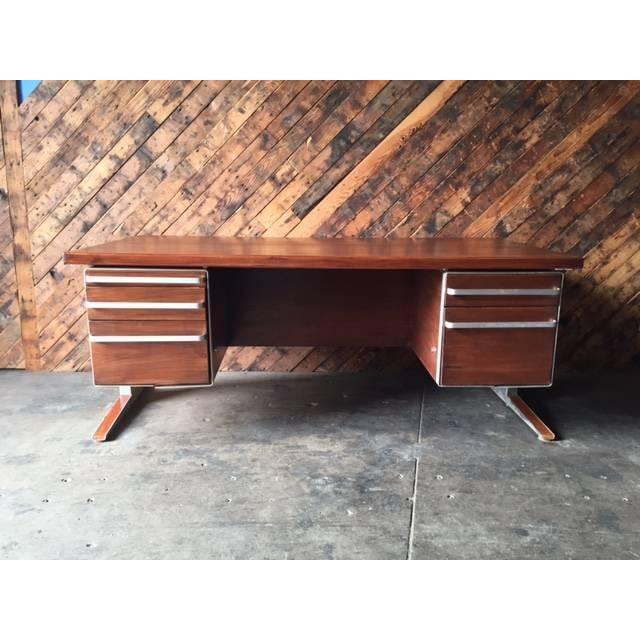 Vintage Cantilevered Executive Desk - Image 6 of 11