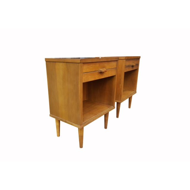 Mid-Century Modern Night Stands - A Pair - Image 3 of 4