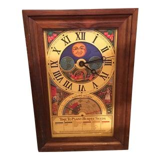 Vintage Burpee Seeds Planting Clock