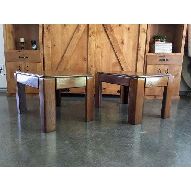 Mid-Century Parsons Style Side Tables - A Pair - Image 5 of 8