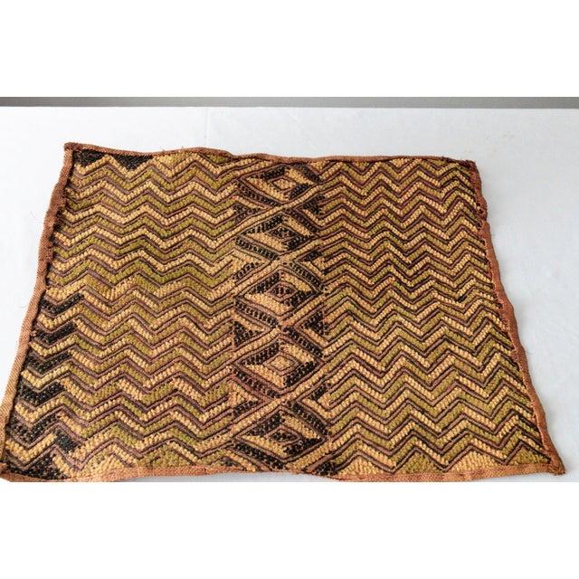 African Kuba Raffia Cloth - Image 3 of 4