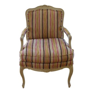 Reupholstered Antique Louis XV Armchair