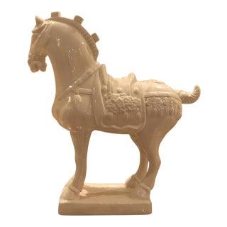 Blanc De Chine Asian Horse Statue