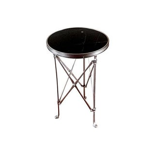 Gueridon French Neoclassical Nickel & Marble Table