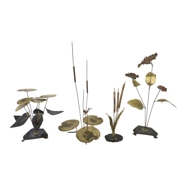 Vintage Botanical Brass Sculptures - Set of 4 - Image 1 of 7