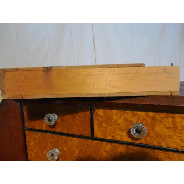 Signed Pennsylvania 1836 Cherry Slant Front Desk - Image 5 of 11