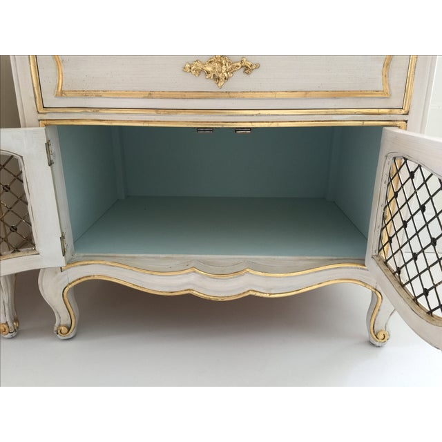 Painted Henredon French Cabinets - Pair - Image 3 of 6