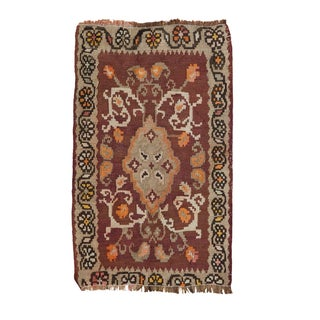 Vintage Turkish Kilim Mat - 1′9″ × 2′9″