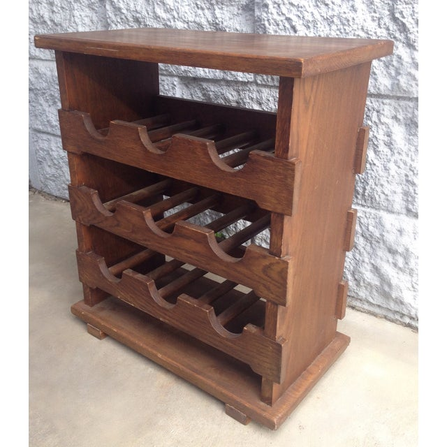 Vintage Wooden Wine Rack Side Table From Belgium Chairish