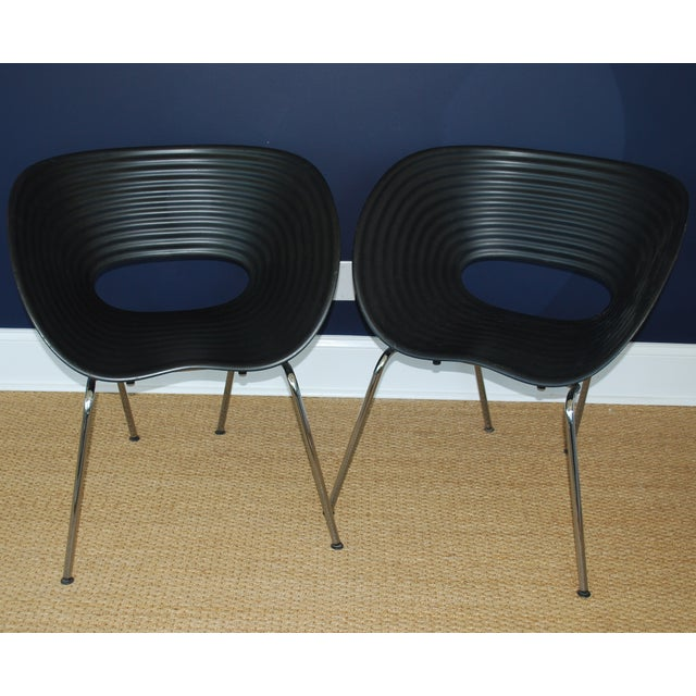 Image of Iconic Black Tom Vac Chairs - Pair