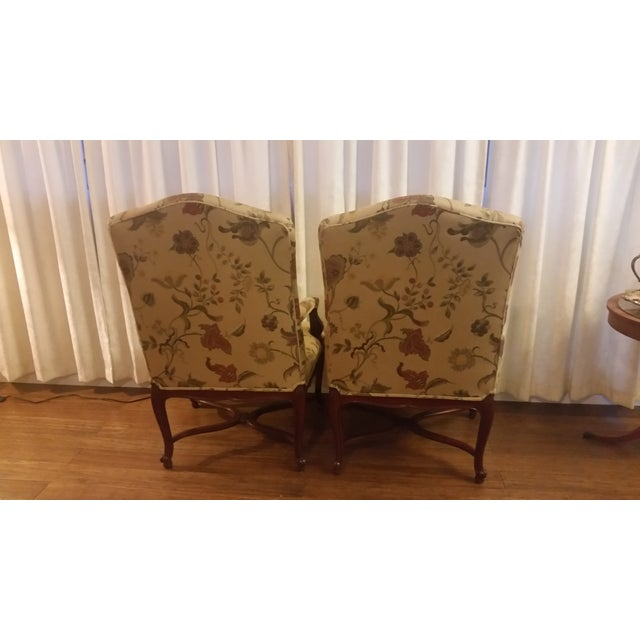 Image of Floral Print Throne Chairs - Pair