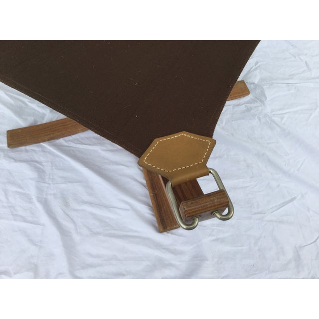 Image of 1960's Stanform Modernist Leather Ottoman