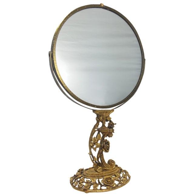 1950s Boudoir Ormolu Vanity Mirror by Matson - Image 1 of 11