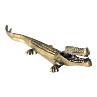 Vintage Brass Crocodile/Alligator Nutcracker