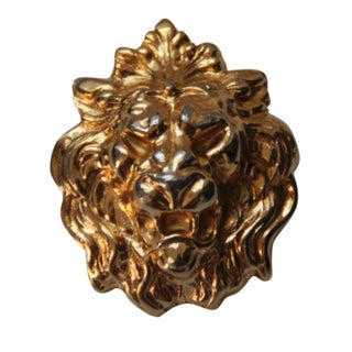 Vintage Gold Tone Lion's Head Pin