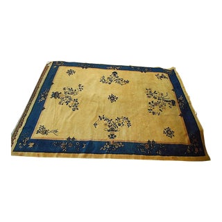 """Vintage Hand Woven Art Deco Chinese Feta Rug-Room Size c.1930's-An Estate Rug-11'4""""x8'10"""""""