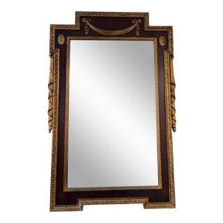 Neoclassical Mahogany and Gilt Mirror