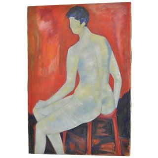 Carmine Sena Minimalist Nude Painting C.1960