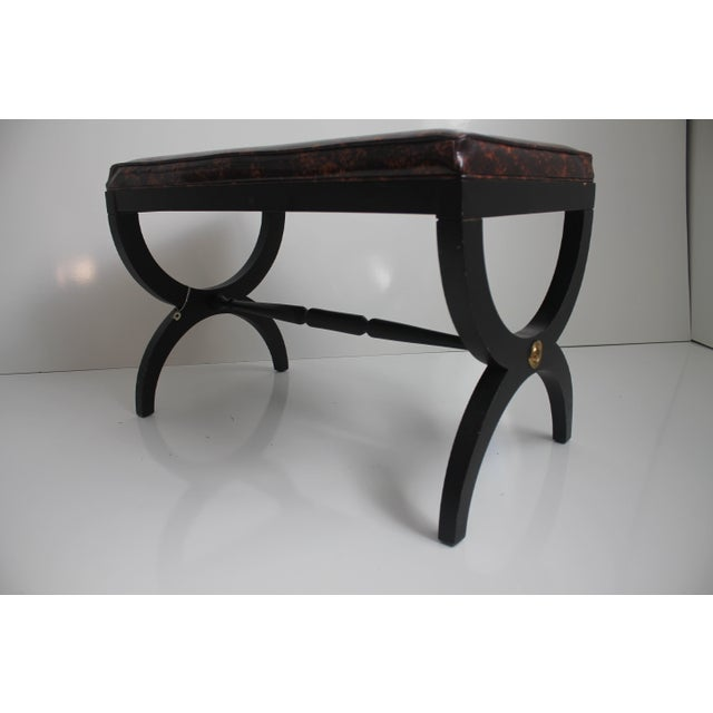 Charlotte Michigan Company Black & Brass Bench - Image 5 of 10