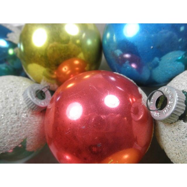 Image of Shiny Brite Snowcap Ornaments - Set of 12