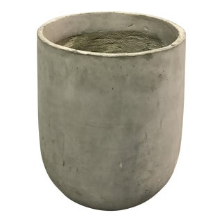Large Minimalist Cement Finish Planter