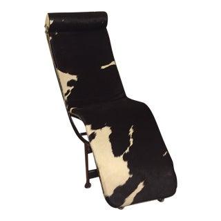 Le Corbusier Style Lc4 Cowhide Chaise