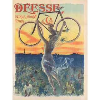 Print of Deesse Bicycle Poster From 1800s
