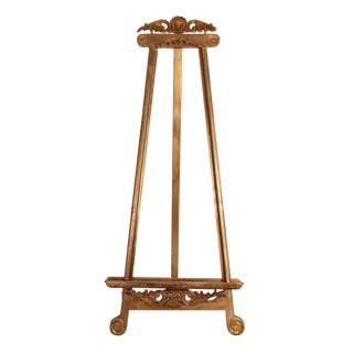 19th Century French Gilded Easel