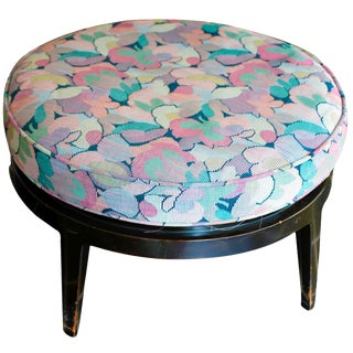 Dunbar Swivel Ottoman in Pink Floral