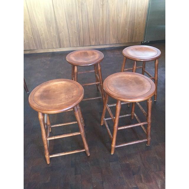 Nichols and Stone Bar Stools - Set of 4 - Image 2 of 3