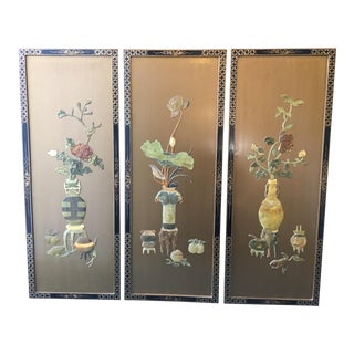 Asian Inspired Wall Panels - Set of 3