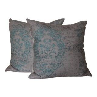 Turkish Rug Print Pillow - a Pair-18''