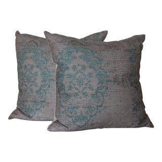 Turkish Rug Print Pillow - a Pair-18''