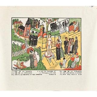 """Edgard Tytgat, """"Seven Sacraments"""" Woodcut Print, 1935"""