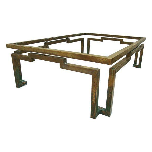 Arturo Pani Rectangular Coffee Table in Brass - Image 2 of 5