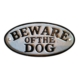 Cast Iron 'Beware Of Dog' Sign