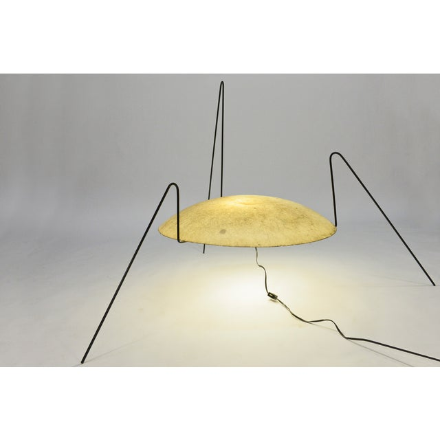 Image of Yellow Modernist 'Spider' Lamp