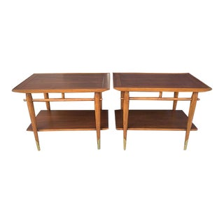 Lane Mid Century Side Tables - a Pair