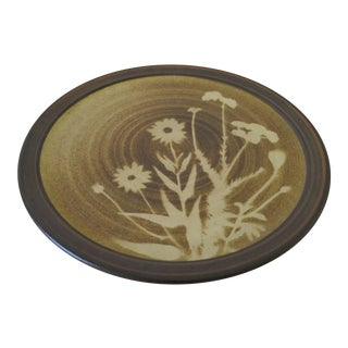 Decorative Ceramic Plate by Marty Helmkamp