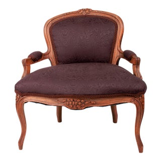 Victorian Hand-Carved Low Slipper Chair