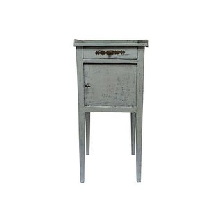 Vintage Light Blue French Nightstand