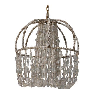 Circa 1900 Unusual All Beaded French Fixture