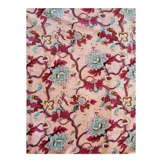 Cotton Velvet Chinoiseri Floral Fabric