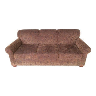 Ellis Home Furnishings Velour Paisley Sofa