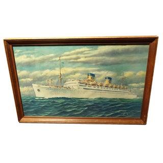 Vintage Atlantic Cruiseliner Print