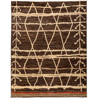 """New Moroccan Hand Knotted Area Rug - 7'8"""" x 9'9"""""""