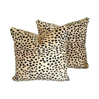 Safari Big Cat Spot Cowhide Pillows - A Pair