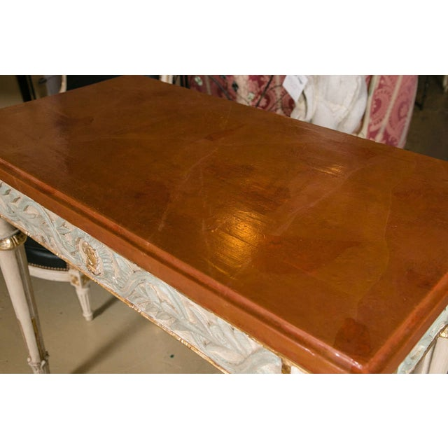 Swedish Paint Decorated Console Tables - A Pair - Image 4 of 8
