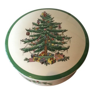 Spode Christmas Tree Lidded Candy Dish